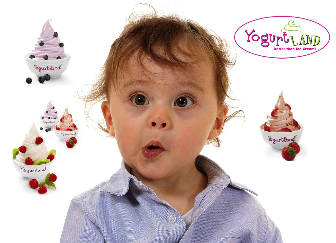 frozen, yogurt, advertisement, child, funny