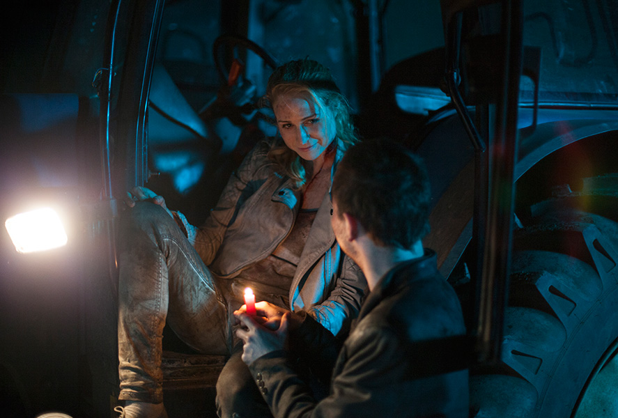 Actors, behind, scene, Ireland, movie, production still, From The Dark