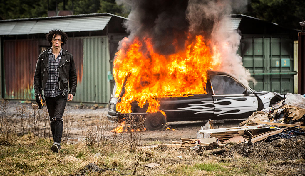 irish, movie, film, actor, burning car, drummer and the keeper