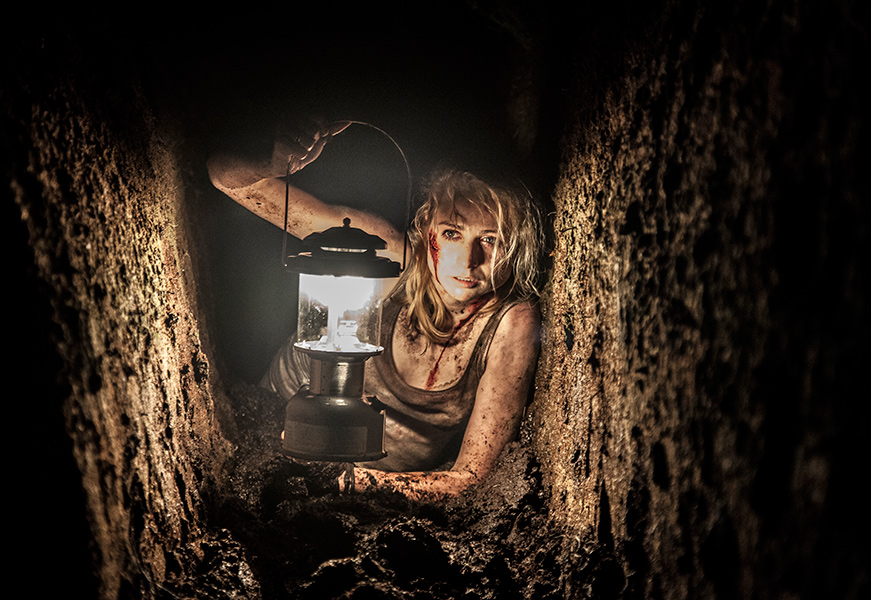 Movie, still, horror, lantern, bog, woman, dirt, still, photographer, Ireland, From The Dark