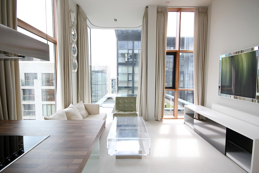 Luxury, apartment, home, sitting-room, property photographer Dublin, architecture,